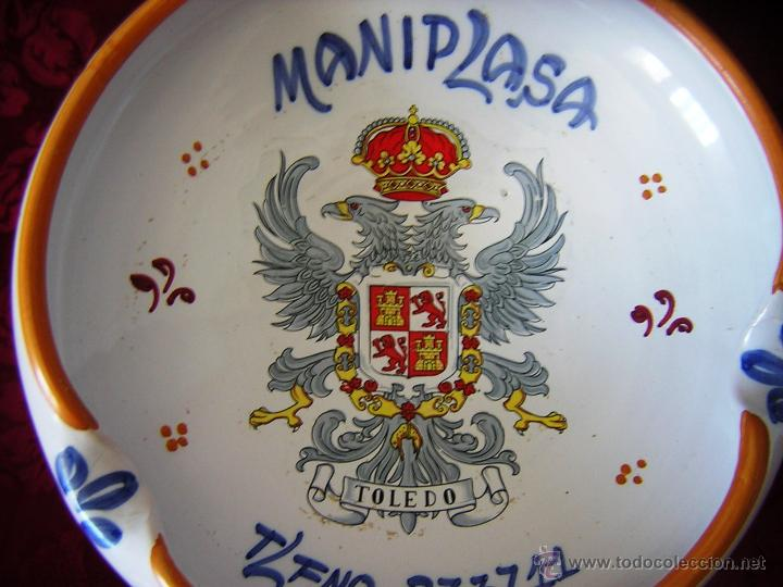 Antigüedades: ** GRAN CENICERO DE TALAVERA ** - Foto 4 - 44174465