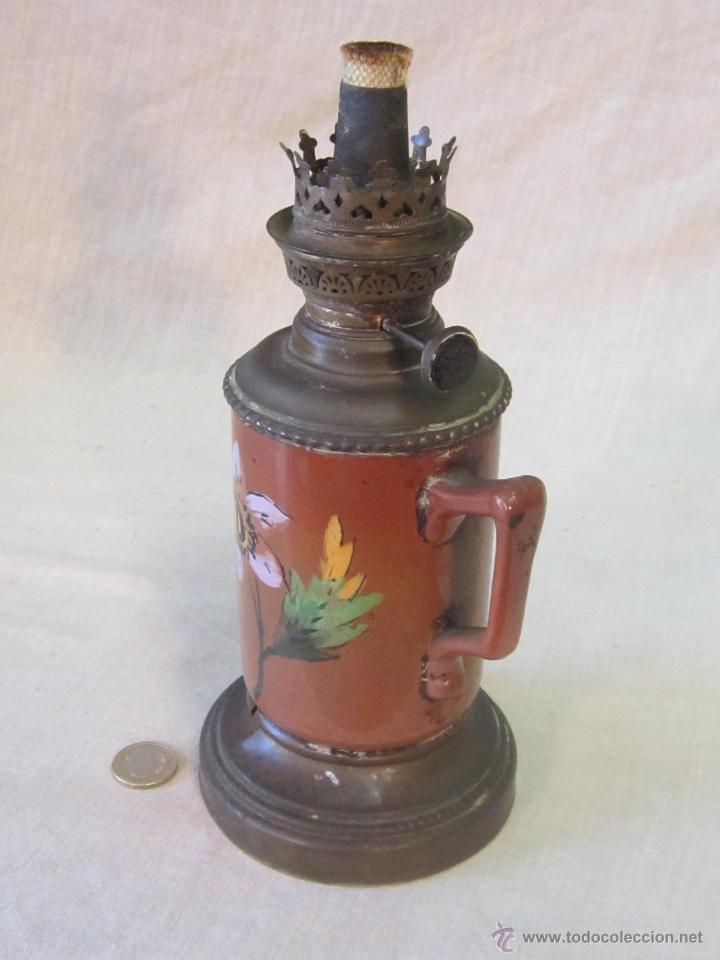 Antigüedades: QUINQUE ANTIGUO EN CERAMICA - Foto 2 - 44179627