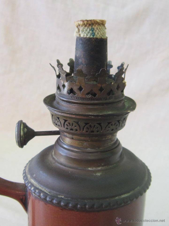 Antigüedades: QUINQUE ANTIGUO EN CERAMICA - Foto 7 - 44179627
