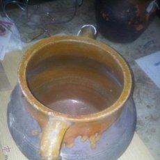 Antigüedades: OLLA VIDRIADA BARRO. Lote 44184365