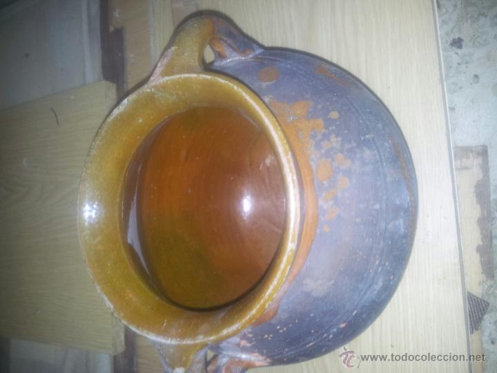Antigüedades: olla vidriada barro - Foto 2 - 44184417