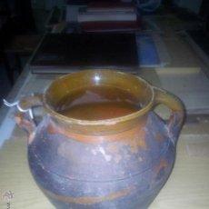 Antigüedades: OLLA VIDRIADA BARRO. Lote 44184466