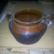 Antigüedades: OLLA VIDRIADA BARRO. Lote 44184626