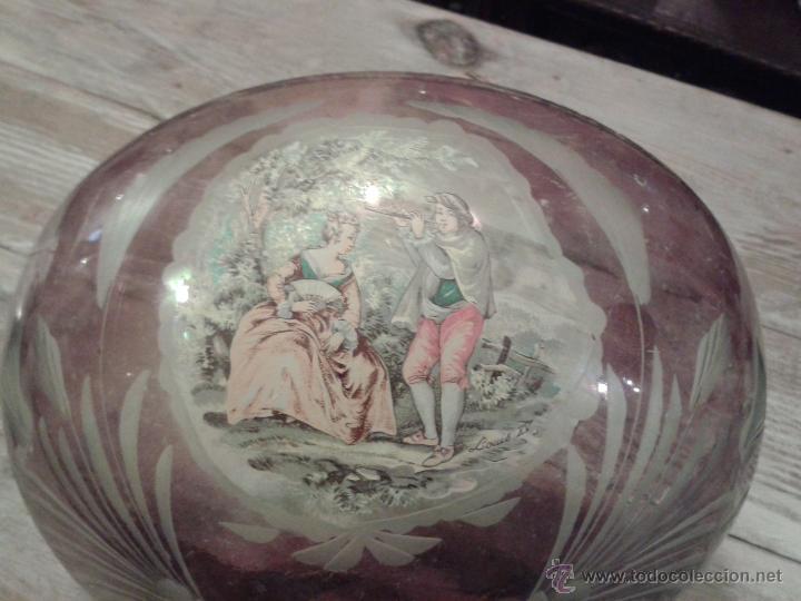 CRISTAL PARA CENTRO DE MESA O LAMPARA DE TECHO (Antigüedades - Cristal y Vidrio - Otros)