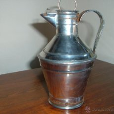 Antigüedades: ACEITERA DE HOJA LATA. Lote 44195861