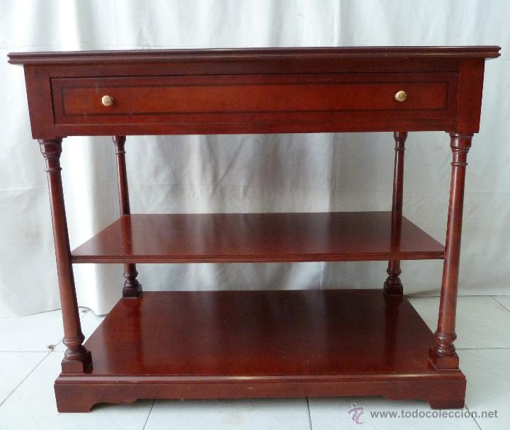 mesa auxiliar con 2 repisas - madera de haya y - Comprar Muebles ...