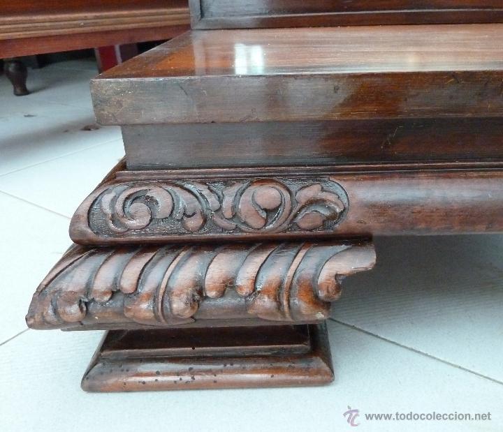 Antigüedades: MUEBLE DE MODISTA, DE RECIBIDOR O TOCADOR - CON ESPEJO Y CAJONES - Foto 10 - 44198258