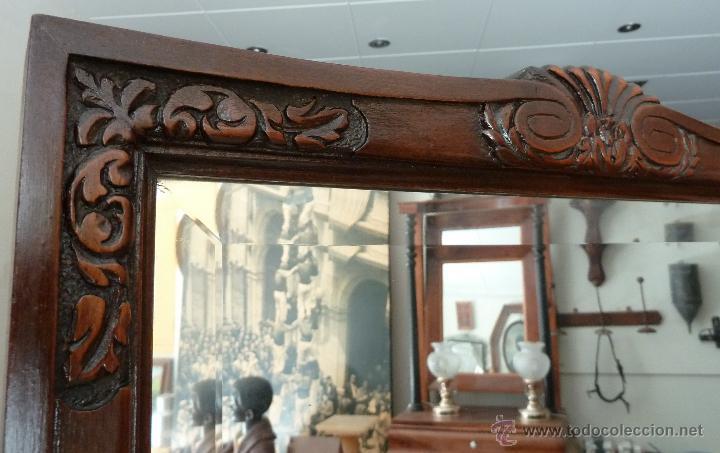 Antigüedades: MUEBLE DE MODISTA, DE RECIBIDOR O TOCADOR - CON ESPEJO Y CAJONES - Foto 13 - 44198258