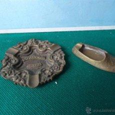 Antigüedades: 2 CENICERO BRONCE. Lote 44211688