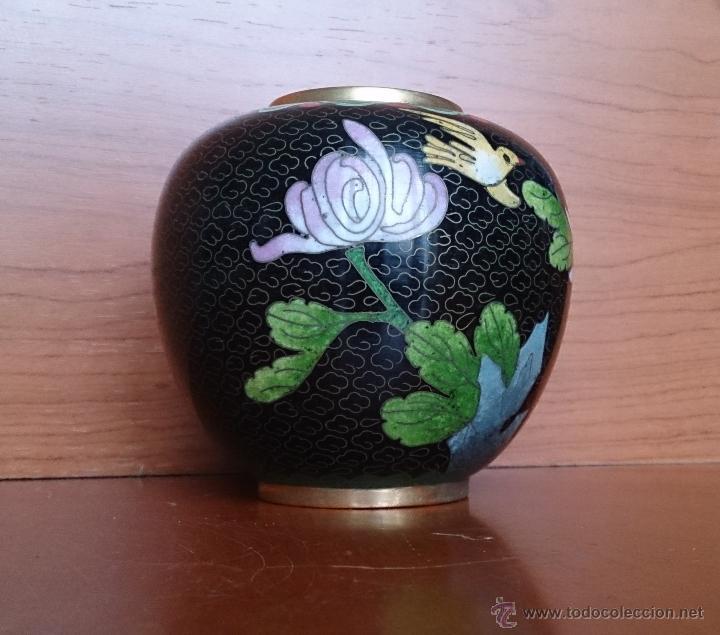 Antigüedades: Antiguo jarrón chino cloisonne ( años 20/30 ). - Foto 2 - 44229445