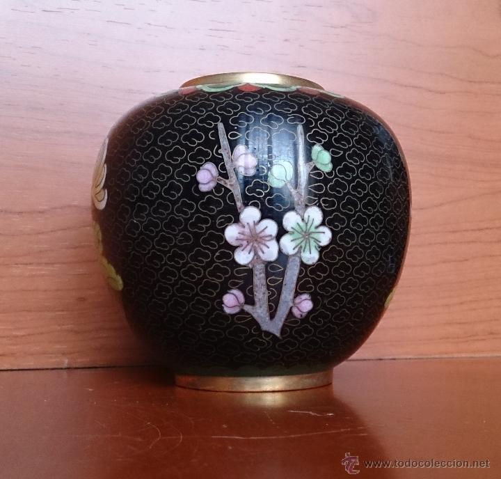 Antigüedades: Antiguo jarrón chino cloisonne ( años 20/30 ). - Foto 3 - 44229445