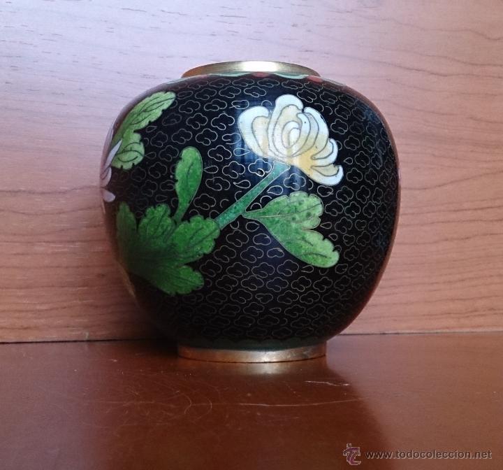 Antigüedades: Antiguo jarrón chino cloisonne ( años 20/30 ). - Foto 4 - 44229445