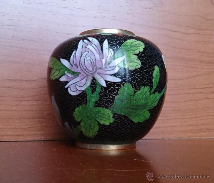 Antigüedades: Antiguo jarrón chino cloisonne ( años 20/30 ). - Foto 5 - 44229445
