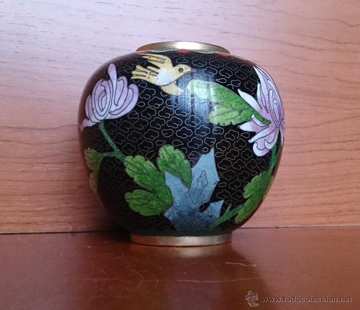 Antigüedades: Antiguo jarrón chino cloisonne ( años 20/30 ). - Foto 6 - 44229445