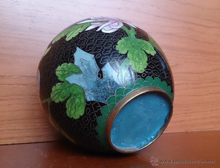 Antigüedades: Antiguo jarrón chino cloisonne ( años 20/30 ). - Foto 7 - 44229445