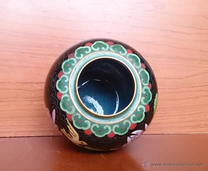 Antigüedades: Antiguo jarrón chino cloisonne ( años 20/30 ). - Foto 8 - 44229445
