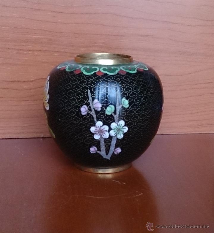 Antigüedades: Antiguo jarrón chino cloisonne ( años 20/30 ). - Foto 9 - 44229445