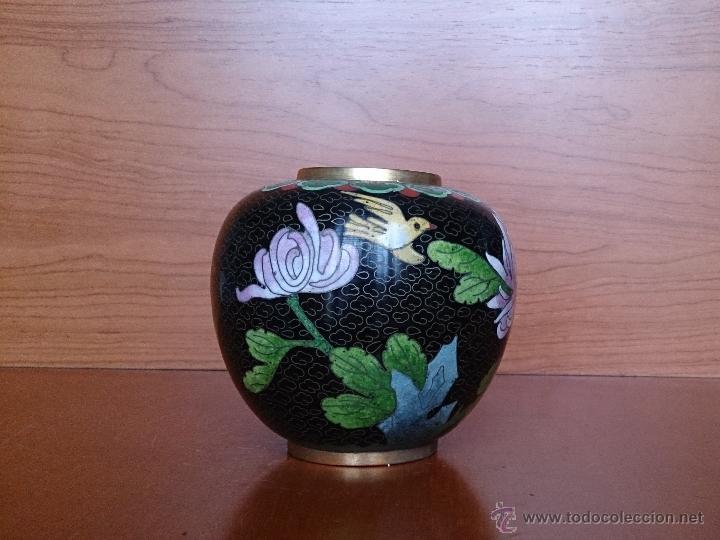 Antigüedades: Antiguo jarrón chino cloisonne ( años 20/30 ). - Foto 11 - 44229445
