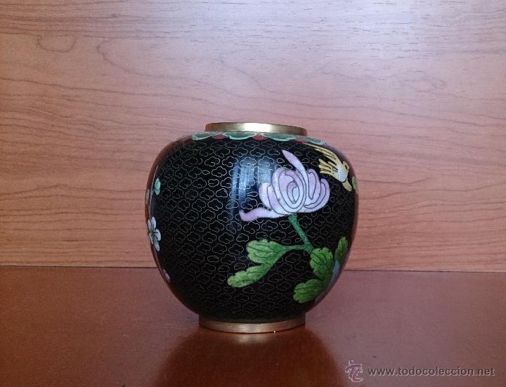 Antigüedades: Antiguo jarrón chino cloisonne ( años 20/30 ). - Foto 12 - 44229445