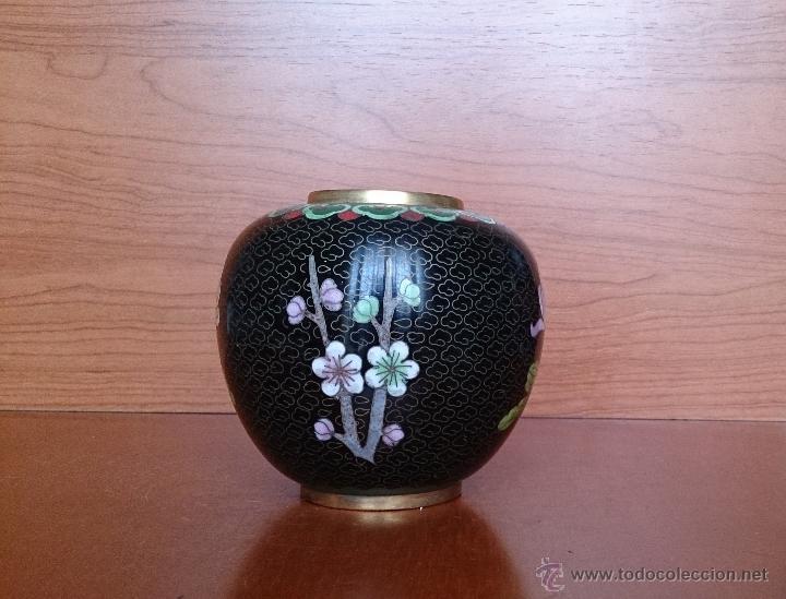 Antigüedades: Antiguo jarrón chino cloisonne ( años 20/30 ). - Foto 13 - 44229445