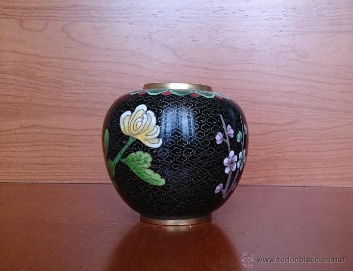 Antigüedades: Antiguo jarrón chino cloisonne ( años 20/30 ). - Foto 14 - 44229445