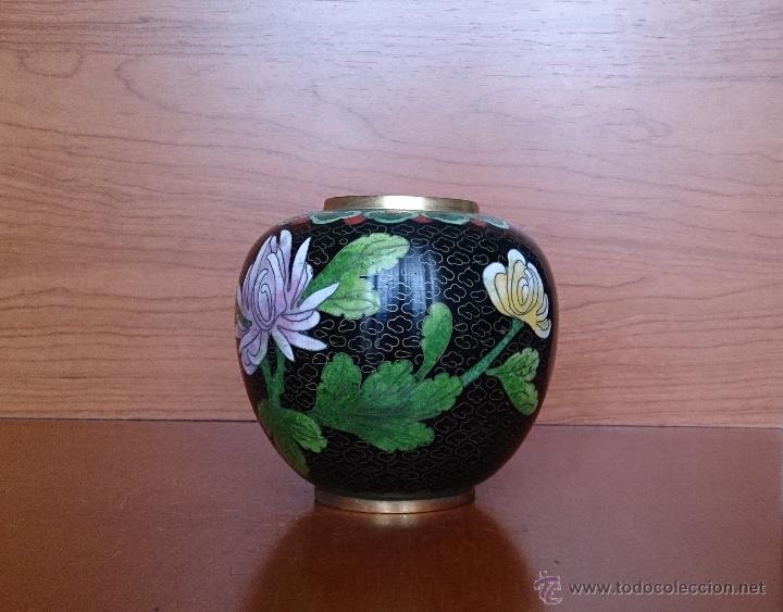 Antigüedades: Antiguo jarrón chino cloisonne ( años 20/30 ). - Foto 15 - 44229445