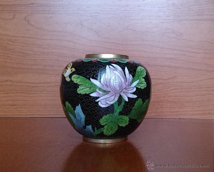 Antigüedades: Antiguo jarrón chino cloisonne ( años 20/30 ). - Foto 16 - 44229445