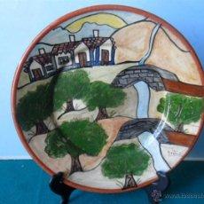 Antiquitäten - plato de ceramica firmado - 44240805