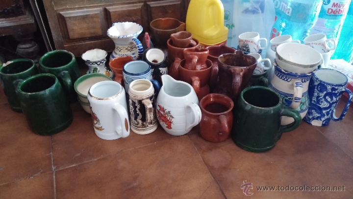 GRAN LOTE DE JARRAS ANTIGUAS (Antigüedades - Hogar y Decoración - Jarrones Antiguos)