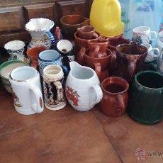 Antigüedades: GRAN LOTE DE JARRAS ANTIGUAS. Lote 44245643