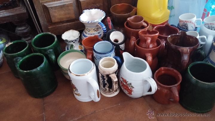 Antigüedades: Gran lote de jarras antiguas - Foto 4 - 44245643