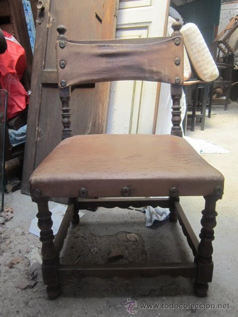 pequeña silla en madera con asiento y respaldo - Comprar Sillas ...