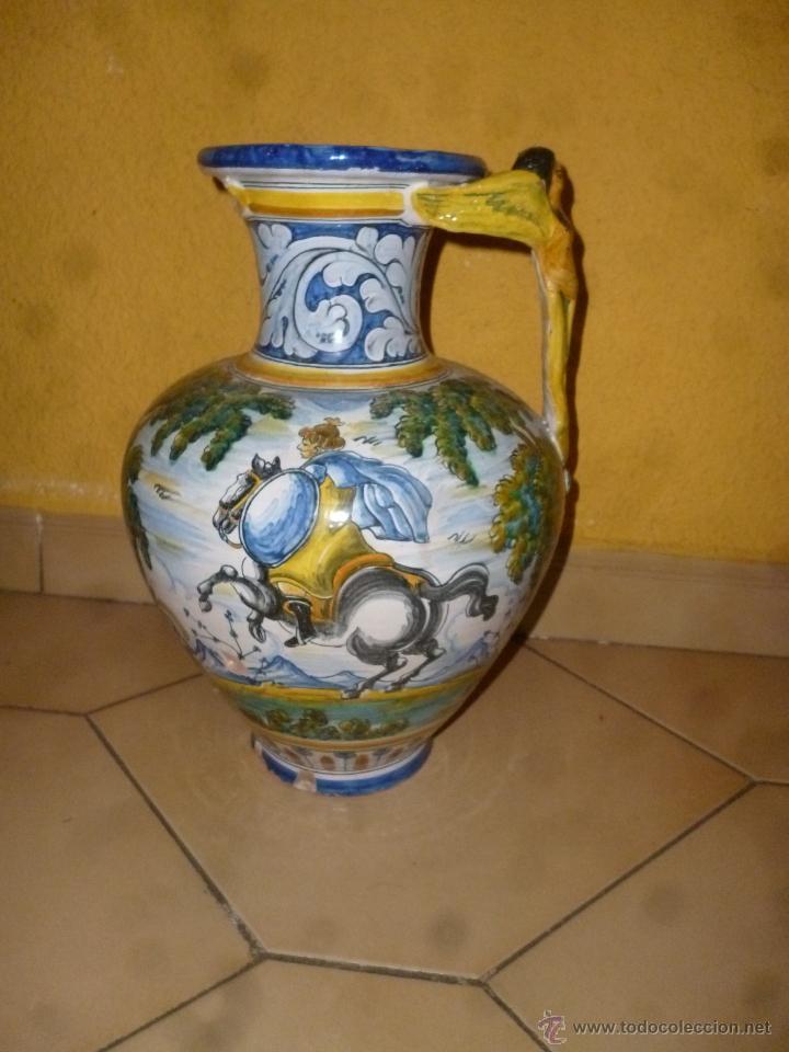 JARRÓN TALAVERA FIRMA - SASO - (Antigüedades - Porcelanas y Cerámicas - Talavera)