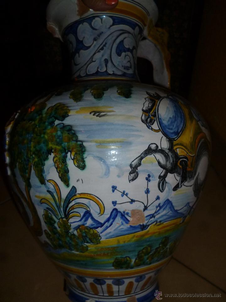 Antigüedades: JARRÓN TALAVERA FIRMA - SASO - - Foto 3 - 44258473