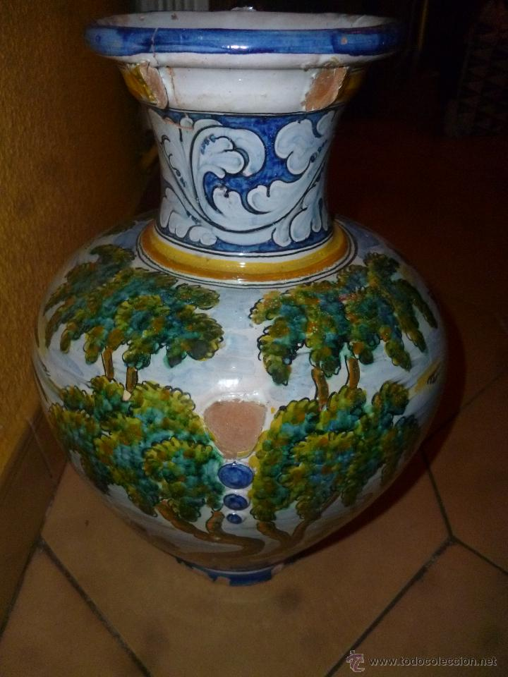 Antigüedades: JARRÓN TALAVERA FIRMA - SASO - - Foto 5 - 44258473