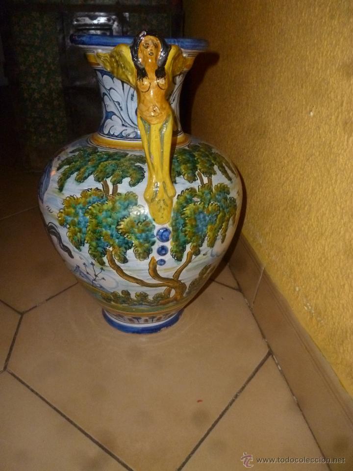 Antigüedades: JARRÓN TALAVERA FIRMA - SASO - - Foto 6 - 44258473