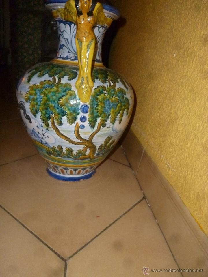 Antigüedades: JARRÓN TALAVERA FIRMA - SASO - - Foto 8 - 44258473