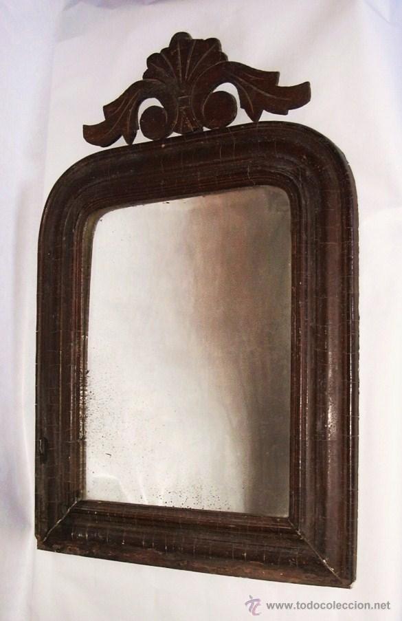 espejo de azogue del xix enmarcado en moldura d - Comprar Espejos ...