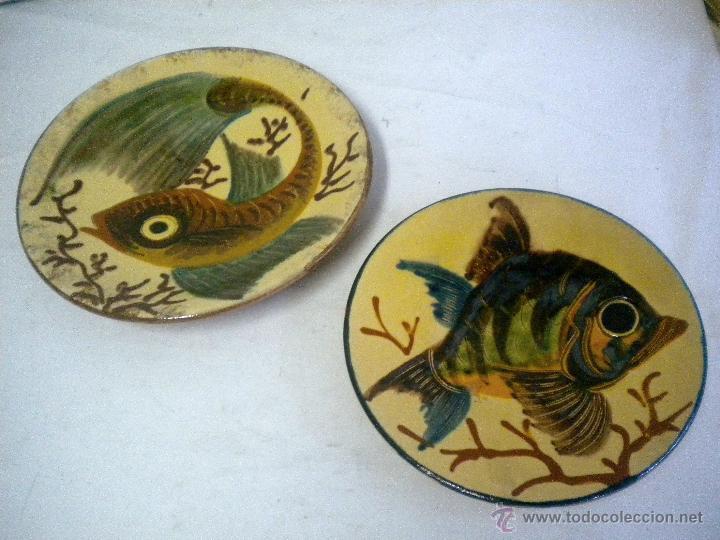 Pareja de platos decorativos para la pared en c vendido - Platos decorativos pared ...