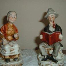 Antigüedades: PAREJA DE FIGURAS DE ANCIANOS. Lote 44285916