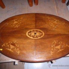 Antigüedades: ANTIGUO TABLERO ISABELINO DE MARQUETERIA, ORIGINAL . Lote 44289379