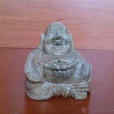 Antigüedades: INCENSARIO ANTIGUO EN ÓNIX TALLADO A MANO ( BUDA DE LA FELICIDAD ).. Lote 44304403