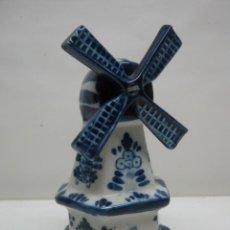 Antigüedades: BLUE DELFT DECO ORIGINAL - MOLINO HOLANDA 15.5 CM. Lote 44304620