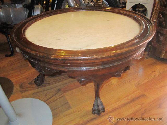Mesa redonda centro sof con encimera de m rm comprar for Mesas de centro antiguas
