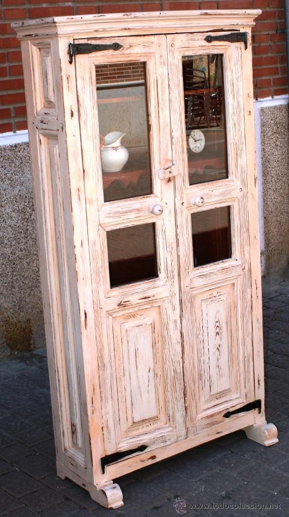 antigua alacena de cocina en pino teñida en cao - Comprar Muebles ...
