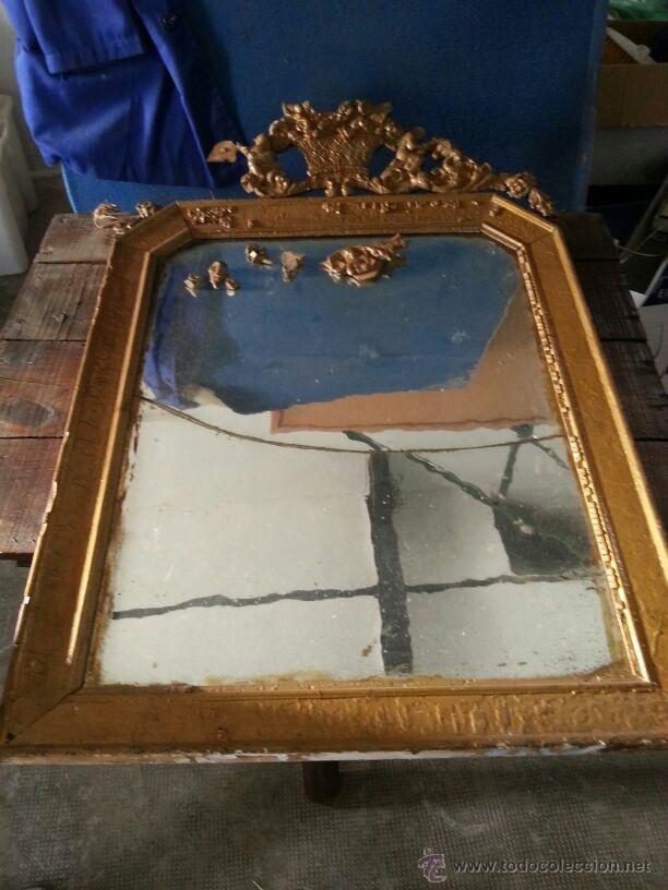 Excelente Espejo De Marco Antiguo Del Oro Galería - Ideas ...