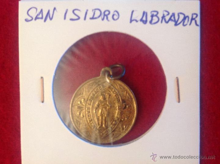 MEDALLA DE SAN ISIDRO LABRADOR (Antigüedades - Religiosas - Medallas Antiguas)