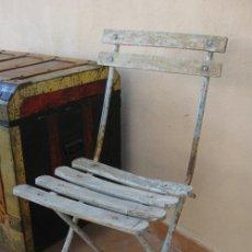 Antigüedades: SILLA ANTIGUA ORIGINAL FRANCESA MADERA Y HIERRO IDEAL JARDIN O BALCON. Lote 44339937