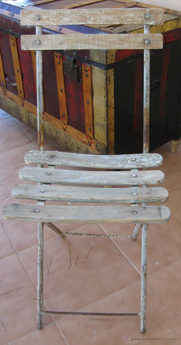 antigedades silla antigua original francesa madera y hierro ideal jardin o balcon foto