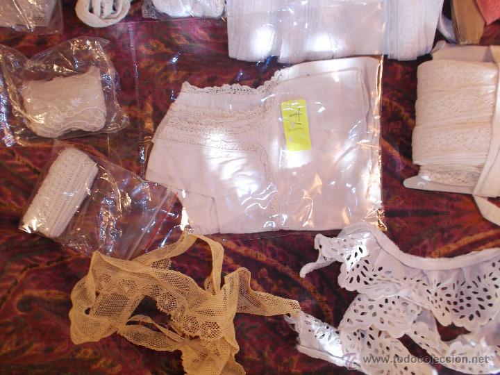Antigüedades: antiguo lote de puntillas - Foto 5 - 44344256